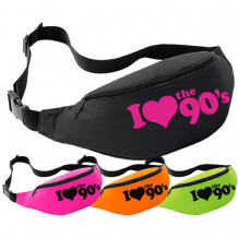 I Love The 1990s Bum Bag - Retro 90's Fancy Dress Neon Party Festival Pack Waist